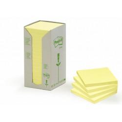 Öntapadó jegyzettömb, 76x76 mm, 100 lap, környezetbarát, 3M POSTIT, sárga