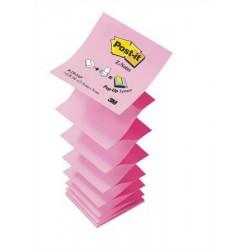 """Öntapadó jegyzettömb, """"Z"""", 76x76 mm, 100 lap, 3M POSTIT, pink"""