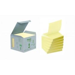"""Öntapadó jegyzettömb, """"Z"""", 76x76 mm, 100 lap, környezetbarát, 3M POSTIT, sárga"""