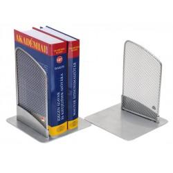 Könyvtámasz, fémhálós, 2 db, ALBA, ezüst