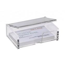Névjegytartó doboz, műanyag, 80 db, SIGEL, víztiszta