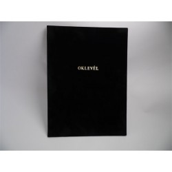 Oklevéltartó, A4, exclusive aranyozva fekete