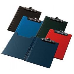 Felírótábla, fedeles, A4, sarokzsebbel, PANTAPLAST, piros