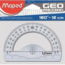 Szögmérő, műanyag, 180
