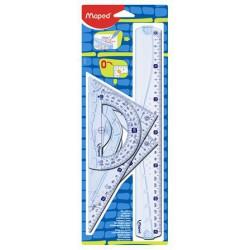 """Vonalzókészlet, műanyag, 4 darabos, MAPED """"Graphic"""""""