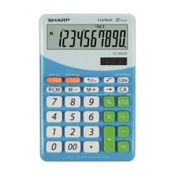 """Számológép, asztali, 10 számjegy, SHARP """"EL-M332"""", kék"""
