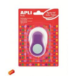 """Mintalyukasztó, kör, 25,4mm, APLI """"Creative"""", lila"""