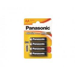 "Elem, AA ceruza, 4 db, PANASONIC ""Alkaline power"""