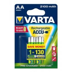 """Tölthető elem, AA ceruza, 2x2100 mAh, előtöltött, VARTA """"Longlife Accu"""""""