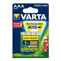 """Tölthető elem, AAA mikro, 4x1000 mAh, VARTA """"Professional Accu"""""""