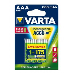 """Tölthető elem, AAA mikro, 4x800 mAh, előtöltött, VARTA """"Longlife Accu"""""""