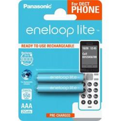 """Tölthető elem, AAA mikro, 2x550 mAh, előtöltött, PANASONIC """" EneloopLite"""""""