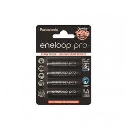 """Tölthető elem, AA ceruza, 4x2500 mAh, PANASONIC """"Eneloop PRO"""""""