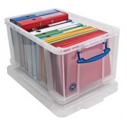 Műanyag tárolódoboz, függőmappák, iratrendezők tárolására, 48 liter, REALLY USEFUL