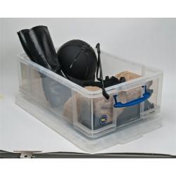 Műanyag tárolódoboz,  irodai kellékek tárolására, 50 liter, REALLY USEFUL
