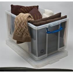 Műanyag tárolódoboz, költözéshez vagy tároláshoz, 84 liter, REALLY USEFUL