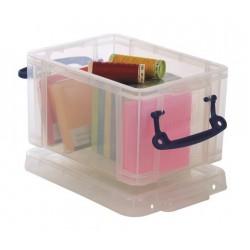 Műanyag tárolódoboz,átlátszó, irodai kellékek tárolására, 1,6 liter, REALLY USEFUL
