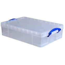 Műanyag tárolódoboz, átlátszó, 24,5 liter, REALLY USEFUL
