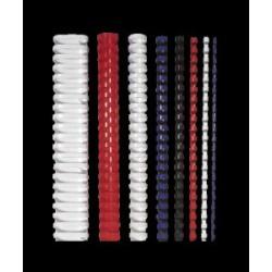 Spirál, műanyag, 8 mm, 21-40 lap, FELLOWES, 25 db, fehér