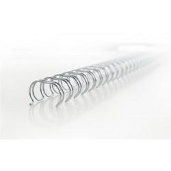 "Spirál, fém, 2:1, 8 mm, 70 lap, GBC ""WireBind"", ezüst"