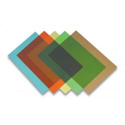 Előlap, A4, 200 mikron, FELLOWES, átlátszó, zöld