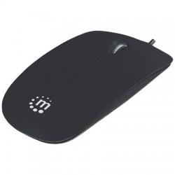 """Egér, vezetékes, optikai, közepes méret, USB, MANHATTAN """"Silhouette"""", fekete"""