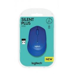 """Egér, vezeték nélküli, optikai, USB, LOGITECH, """"M330 Silent"""", kék"""