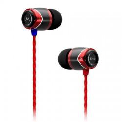 """Fülhallgató, fém, SOUNDMAGIC """"E10"""", fekete-piros"""