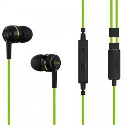 """Fülhallgató, mikrofon, SOUNDMAGIC """"ES18S"""", fekete-zöld"""