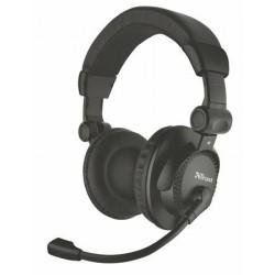 """Fejhallgató, mikrofonnal, vezetékes, 3,5 mm jack, TRUST """"Como"""", fekete"""