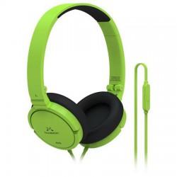"""Fejhallgató, vezetékes, beépített mikrofonnal, 3,5 mm jack, SOUNDMAGIC """"P21S"""", zöld"""