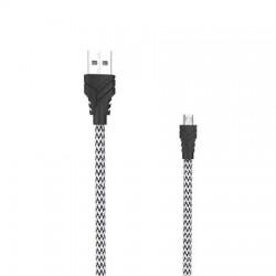 "USB kábel, microUSB - USB, 1 m, fonott, AWEI ""CL-800"""