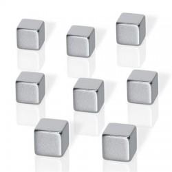 "Erős kocka mágnes, 8 db, BE!BOARD ""Neodymium""  ezüst"