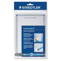 """Üzenőtábla, öntapadó, írható, 21x14,8 cm, STAEDTLER """"Lumocolor Memo Board"""""""