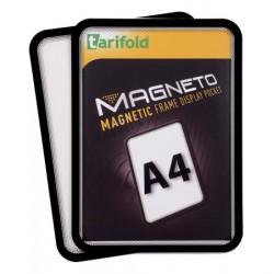 """Mágneses tasak, mágneses háttal, A4, TARIFOLD """"Magneto"""", fekete"""
