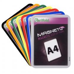 """Mágneses tasak, mágneses háttal, A4, TARIFOLD """"Magneto Solo"""", fekete"""