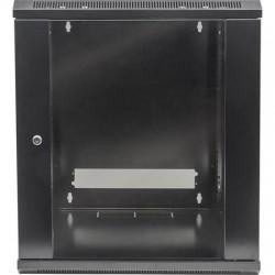 "Rackszekrény, 19"", 9U, 500x570x450 mm, fali, INTELLINET, fekete"