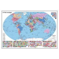 Falitérkép, 70x100 cm, fémléces,  Föld országai, STIEFEL