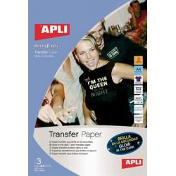 Fólia, vasalható, A4, tintasugaras nyomtatóba, sötétben világító, APLI