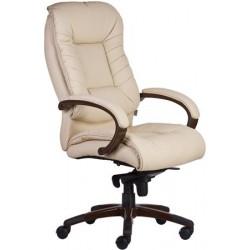 """Főnöki szék, műbőrborítás, fekete lábkereszt, """"Buffalo PU"""", bézs"""
