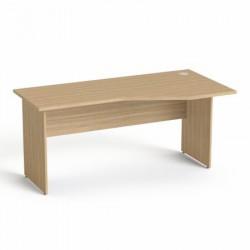 """Íróasztal, íves, jobbos,  laplábbal, 160x80 cm, MAYAH """"Freedom SV-23"""", kőris"""