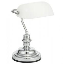 """Asztali lámpa, 60 W, EGLO """"Banker"""", fehér"""