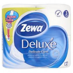 """Toalettpapír, 3 rétegű, 4 tekercses, ZEWA """"Deluxe"""", fehér"""