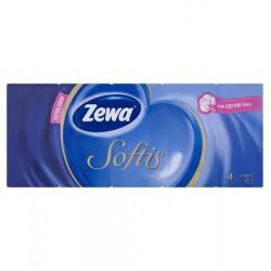 """Papír zsebkendő, 4 rétegű, 10x10 db, ZEWA """"Softis"""", classic"""