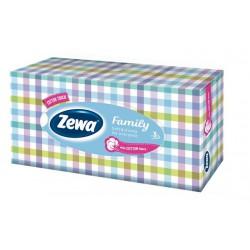 """Kozmetikai kendő, 3 rétegű, 90 db, ZEWA """"Family"""" illatmentes"""