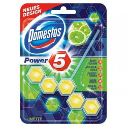 "WC fertőtlenítő, 2 db-os, DOMESTOS ""Power 5"", lime"