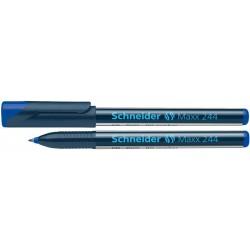 """Alkoholos marker, CD/DVD, 0,7 mm, SCHNEIDER """"Maxx 244"""", kék"""