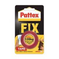"Ragasztószalag, kétoldalas, 19 mm x 1,5 m, HENKEL ""Pattex Fix 120 kg"",  piros"