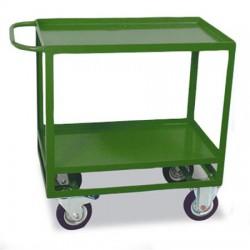 Szállítókocsi, kétszintes, 200 kg teherbírás, zöld