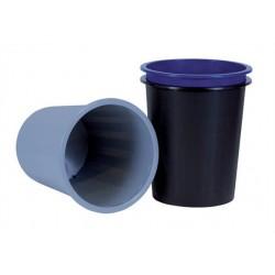 Papírkosár, 14 liter, DONAU, szürke